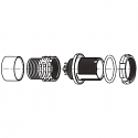 GS0WAM-PD8WBE0-0000 ODU AMC High-Density Screw Lock 8 Way Size 0