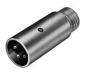 P3M - 3 Pin Male Microphone Plug Nickle Finish