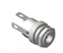 "732AH -Switchcraft DC Power Jack, 0.050"" (1.3mm) pin, solder lugs termination, High-Temp"