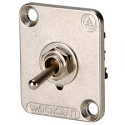 EHTSL- Switchcraft toggle switch, locking, DPDT, nickel flange